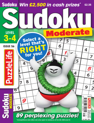 PuzzleLife Sudoku Moderate 3-4 Issue 056