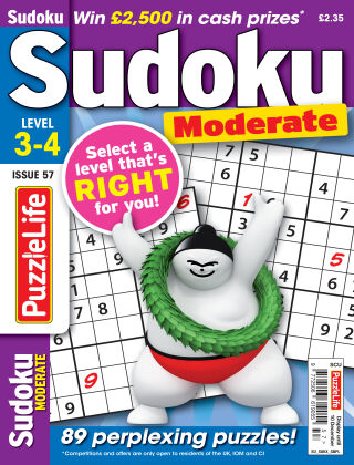 PuzzleLife Sudoku Moderate 3-4 Issue 057