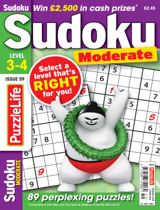PuzzleLife Sudoku Moderate 3-4 Issue 059