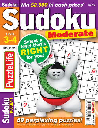 PuzzleLife Sudoku Moderate 3-4 Issue 062
