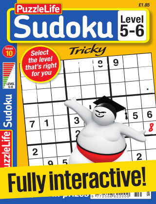 PuzzleLife Sudoku Tricky 5-6 Issue 010