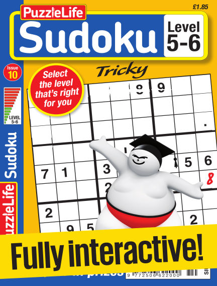 PuzzleLife Sudoku Tricky 5-6 March 30, 2017 00:00