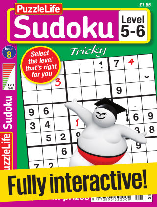 PuzzleLife Sudoku Tricky 5-6 Issue 008