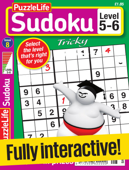 PuzzleLife Sudoku Tricky 5-6 February 02, 2017 00:00
