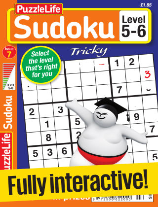 PuzzleLife Sudoku Tricky 5-6 Issue 007