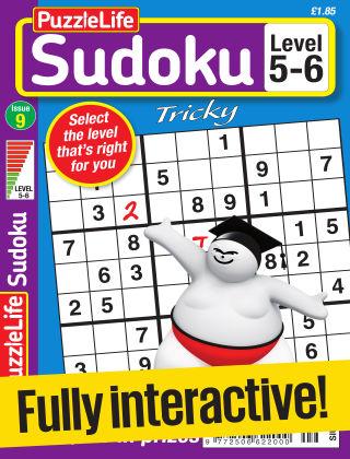PuzzleLife Sudoku Tricky 5-6 Issue 009