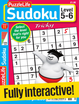 PuzzleLife Sudoku Tricky 5-6 Issue 011