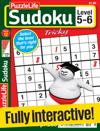 PuzzleLife Sudoku Tricky 5-6 Issue 012