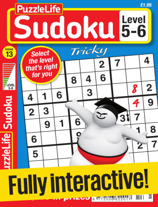PuzzleLife Sudoku Tricky 5-6 Issue 013