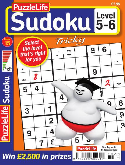 PuzzleLife Sudoku Tricky 5-6 August 17, 2017 00:00