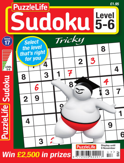 PuzzleLife Sudoku Tricky 5-6 October 12, 2017 00:00