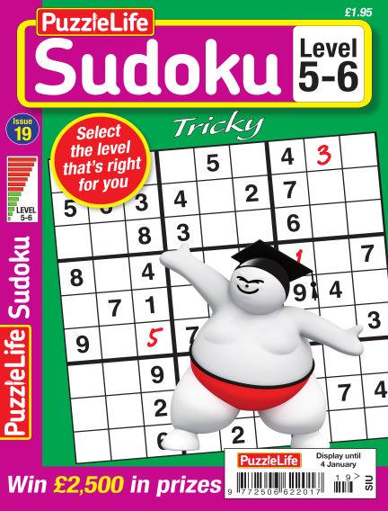 PuzzleLife Sudoku Tricky 5-6 December 07, 2017 00:00