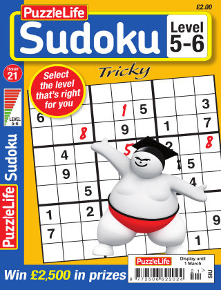 PuzzleLife Sudoku Tricky 5-6 Issue 021