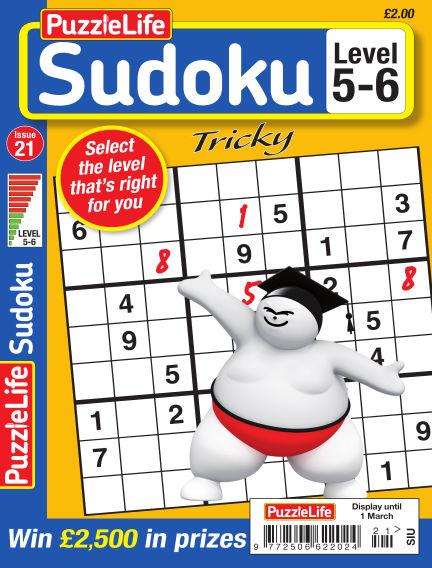 PuzzleLife Sudoku Tricky 5-6 February 01, 2018 00:00