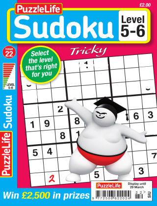 PuzzleLife Sudoku Tricky 5-6 Issue 022