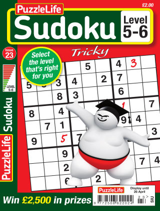 PuzzleLife Sudoku Tricky 5-6 Issue 023