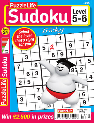 PuzzleLife Sudoku Tricky 5-6 Issue 024