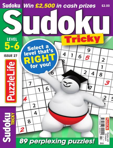 PuzzleLife Sudoku Tricky 5-6 July 19, 2018 00:00
