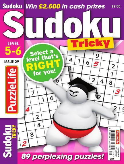 PuzzleLife Sudoku Tricky 5-6 September 13, 2018 00:00