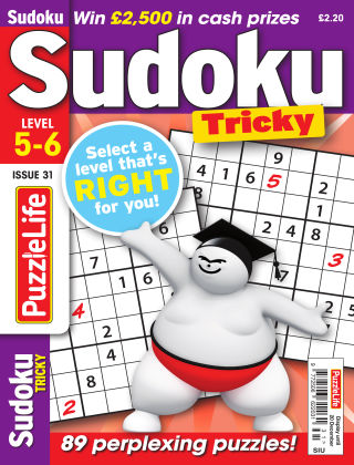 PuzzleLife Sudoku Tricky 5-6 Issue 31