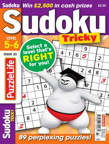 PuzzleLife Sudoku Tricky 5-6 January 31, 2019 00:00