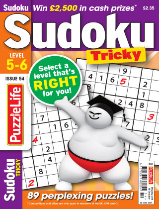 PuzzleLife Sudoku Tricky 5-6 Issue 054