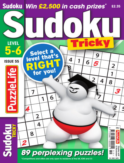 PuzzleLife Sudoku Tricky 5-6 October 15, 2020 00:00