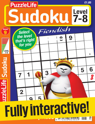 PuzzleLife Sudoku Fiendish 7-8 Issue 009