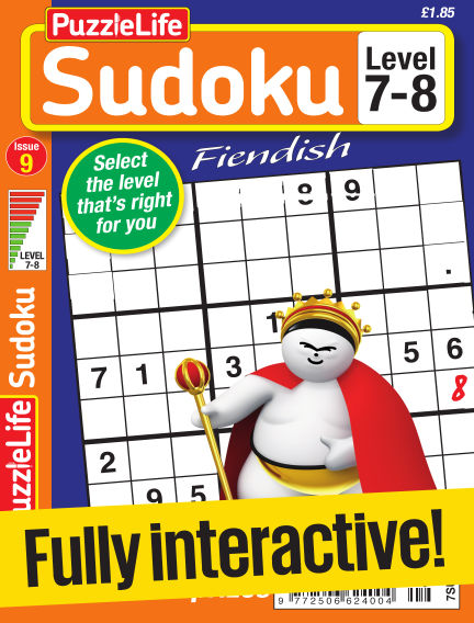 PuzzleLife Sudoku Fiendish 7-8 March 02, 2017 00:00
