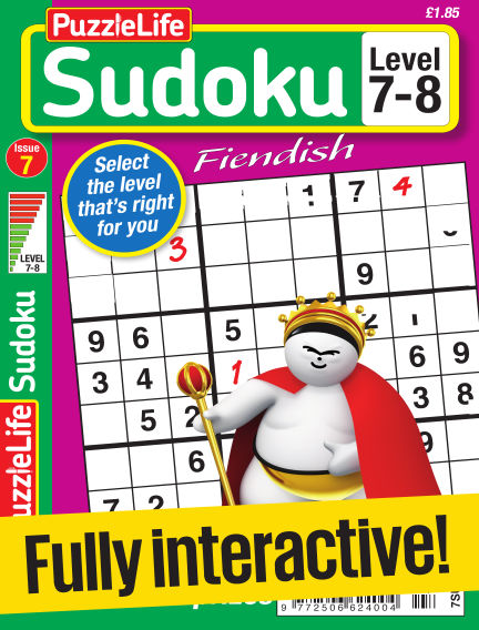 PuzzleLife Sudoku Fiendish 7-8 January 05, 2017 00:00