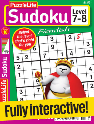 PuzzleLife Sudoku Fiendish 7-8 Issue 010