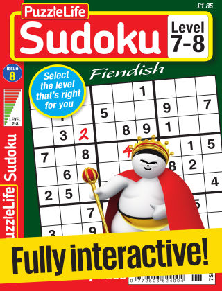 PuzzleLife Sudoku Fiendish 7-8 Issue 008