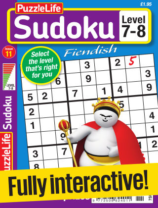 PuzzleLife Sudoku Fiendish 7-8 Issue 011