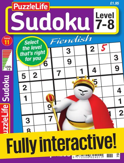 PuzzleLife Sudoku Fiendish 7-8 April 27, 2017 00:00