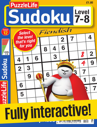 PuzzleLife Sudoku Fiendish 7-8 Issue 012