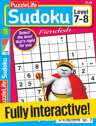 PuzzleLife Sudoku Fiendish 7-8 Issue 013