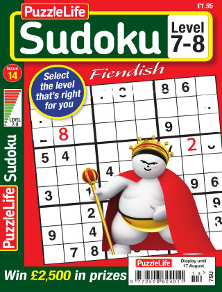 PuzzleLife Sudoku Fiendish 7-8 Issue 014