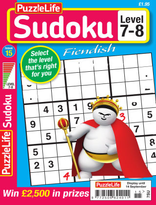 PuzzleLife Sudoku Fiendish 7-8 Issue 015