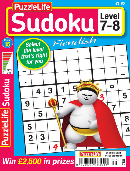 PuzzleLife Sudoku Fiendish 7-8 August 17, 2017 00:00