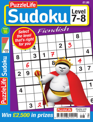PuzzleLife Sudoku Fiendish 7-8 Issue 016