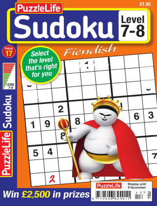 PuzzleLife Sudoku Fiendish 7-8 Issue 017