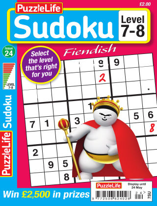 PuzzleLife Sudoku Fiendish 7-8 Issue 24