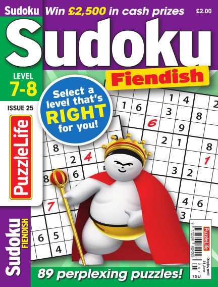 PuzzleLife Sudoku Fiendish 7-8 May 24, 2018 00:00