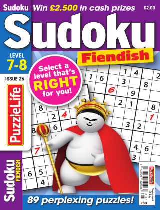 PuzzleLife Sudoku Fiendish 7-8 Issue 026