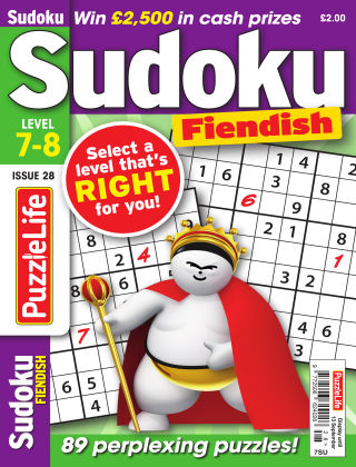 PuzzleLife Sudoku Fiendish 7-8 Issue 028