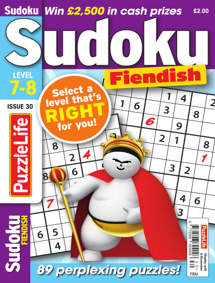 PuzzleLife Sudoku Fiendish 7-8 October 11, 2018 00:00