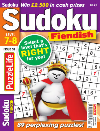 PuzzleLife Sudoku Fiendish 7-8 Issue 31