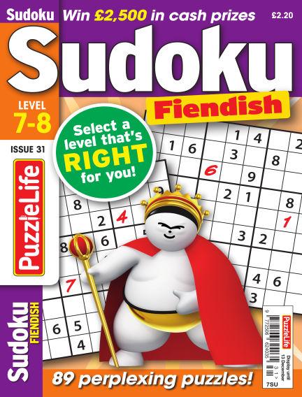 PuzzleLife Sudoku Fiendish 7-8 November 08, 2018 00:00