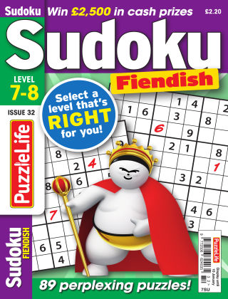 PuzzleLife Sudoku Fiendish 7-8 December 2018