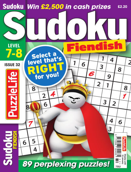 PuzzleLife Sudoku Fiendish 7-8 December 06, 2018 00:00